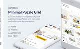 Minimal Instagram Puzzle Grid Social Media