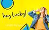 """Hey Lucky! Displays Sans"" 字体 大的屏幕截图"