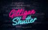 Gilligan Shutter Monoline Font Big Screenshot