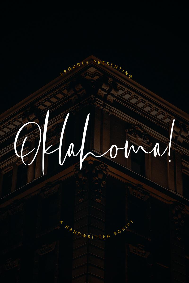 Oklahoma Handwritten Script Font #78124