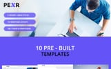 Responsywny szablon strony www Pexr - Responsive Multipurpose HTML5 Template #77069
