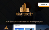 "Responzivní Joomla šablona ""Constructify- Multipurpose Construction and Building"""