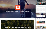 "Joomla Vorlage namens ""FZ - Tour & Travel Agency Joomla Template With Page Builder 