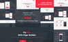 "Joomla Vorlage namens ""Kite - Responsive One Page Multipurpose With Page Builder 