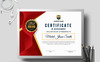 Award Design with Geometric Shapes Certificate Template Big Screenshot