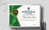 Award Design with Geometric Shapes Certificate Template
