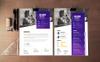 Geometric Business CV Resume Template Big Screenshot
