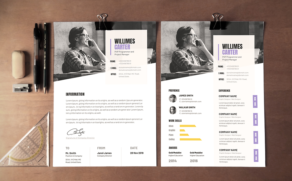 geometric business cv resume template  77628