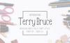 """Font """"TerryBruce"""" Velký screenshot"""