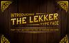 The Lekker Font Big Screenshot