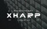 """""""Xharp"""" police de caractère"""