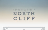 """NORTHCLIFF"" Lettertype"