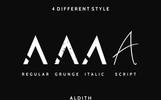 """Schriftart namens """"Aldith"""""""