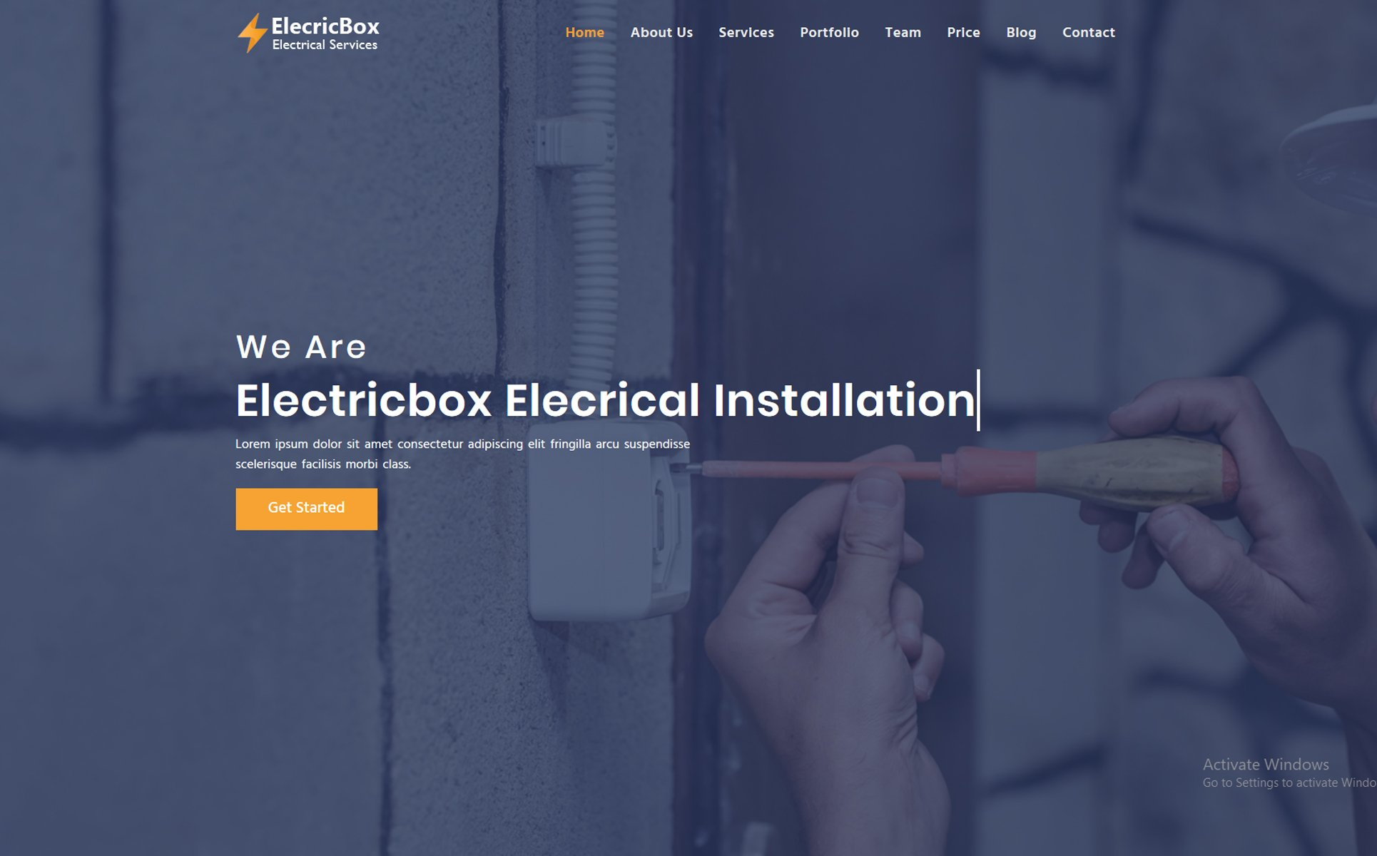 Electricbox Landing Page Template