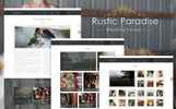 Rustic Paradise Wedding Venue PSD Template
