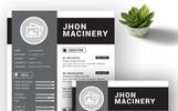 """Jhon Master"" modèle de CV"