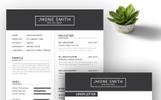 Bright Header Web Designer Resume Template