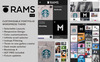 "Tema WordPress Responsive #78999 ""RAMS - Portfolio"" Screenshot grande"