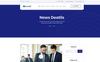 Tema de WordPress para Sitio de Finanzas Captura de Pantalla Grande
