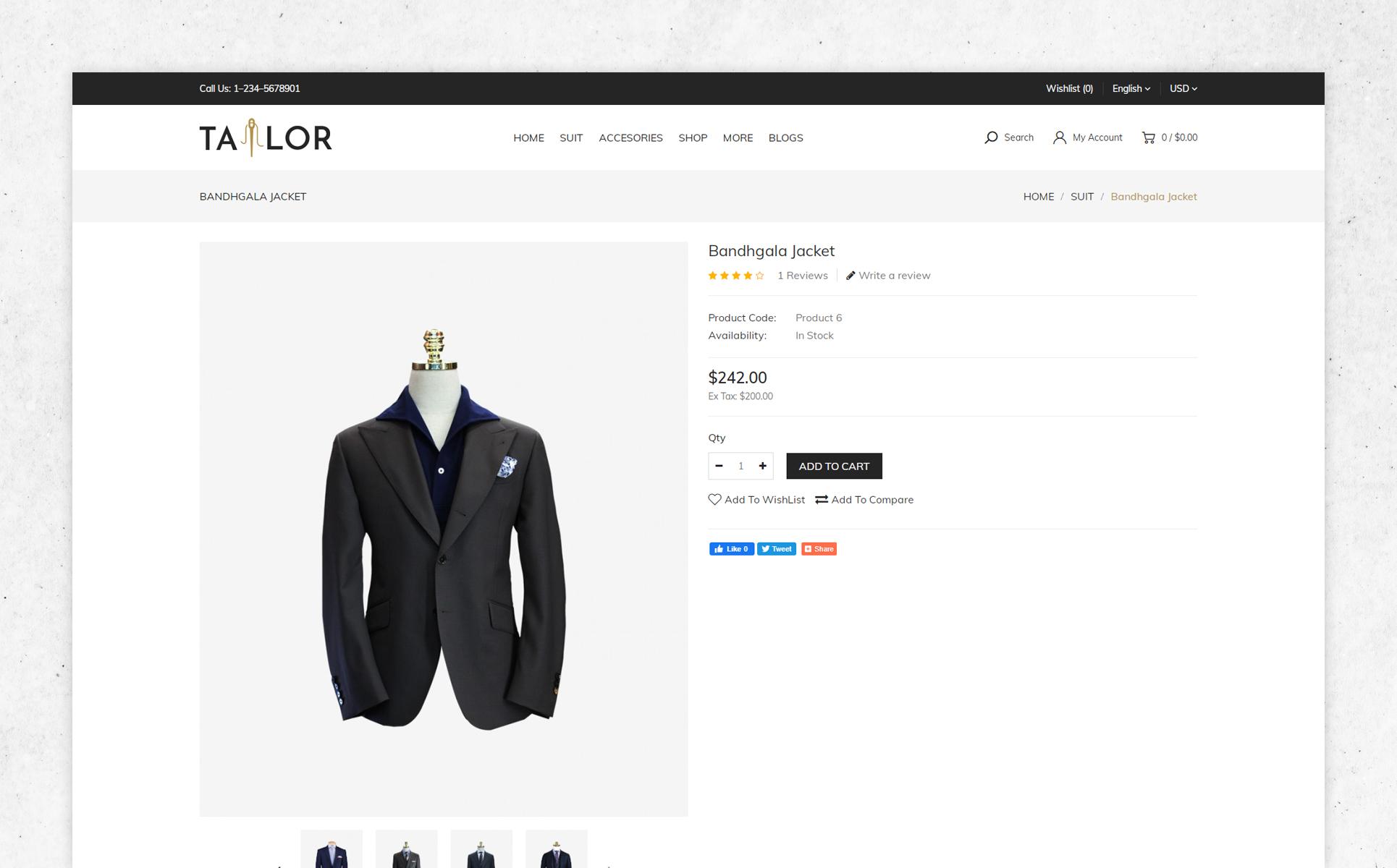 Tailor OpenCart Template