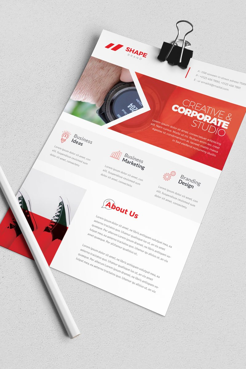 Shape Band -  Flyer Template de Identidade Corporativa  №82272 Screenshot Grade