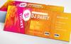 Gold Event Party Flyer Márkastílus sablon Nagy méretű képernyőkép