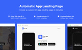 """Landing Page Template namens """"Automatic App"""""""