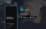Automatic App Landing Page Template