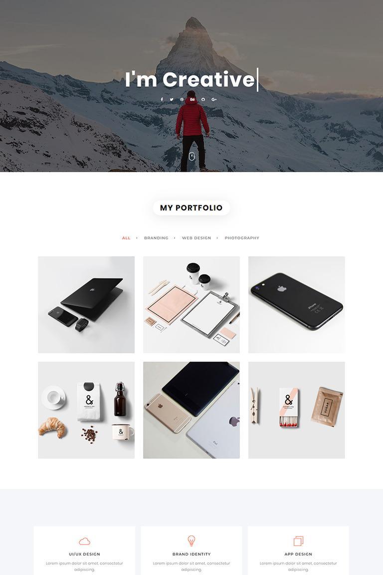Nivea - Personal Portfolio Landing Page Template #79270