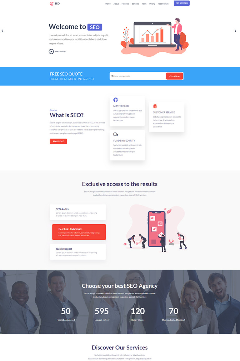 Best Landing Pages 2020 SEO Landing Page Template #82401