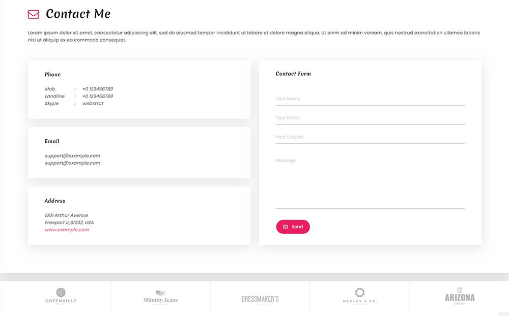 Stephen - Resume HTML Landing Page Template
