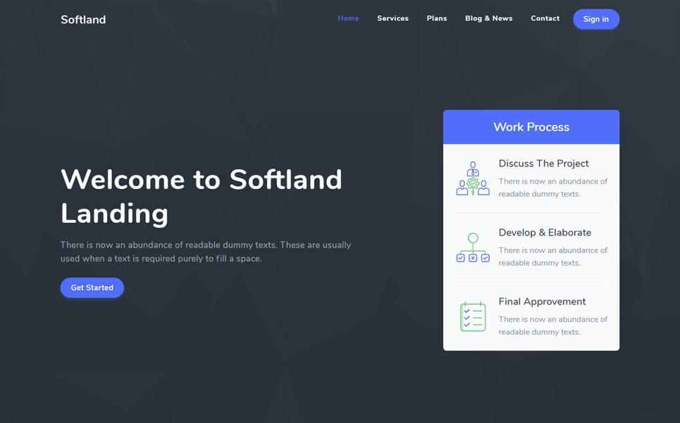 Softland - Responsive Landing Page Template