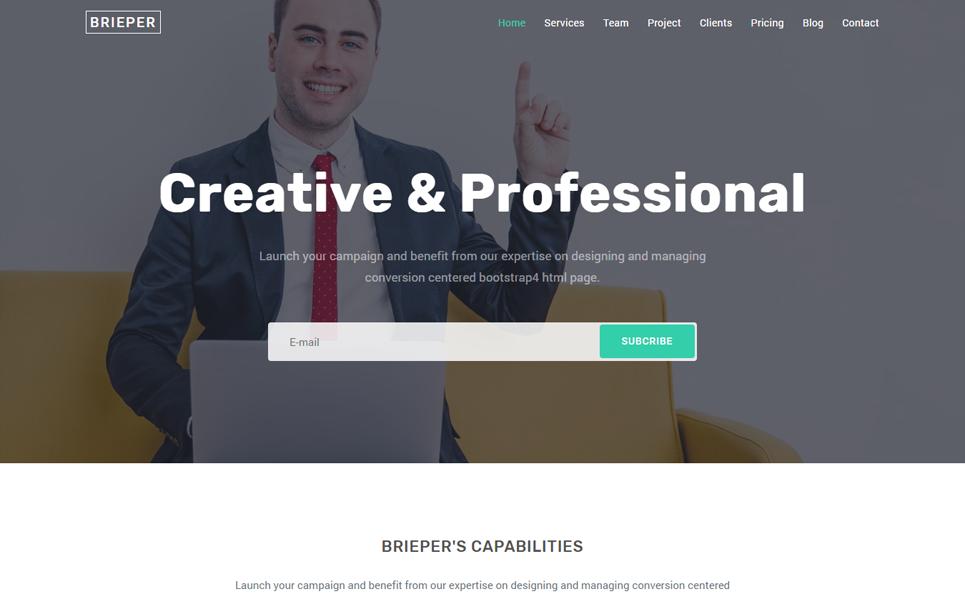 Brieper - Responsive Landing Page Template