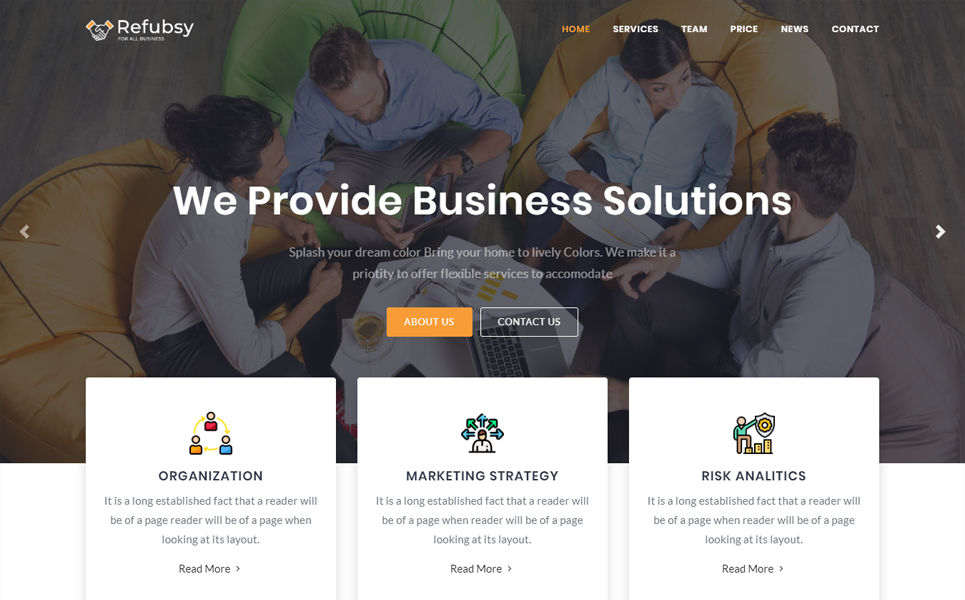 Refubsy - Creative Multipurpose Landing Page Template