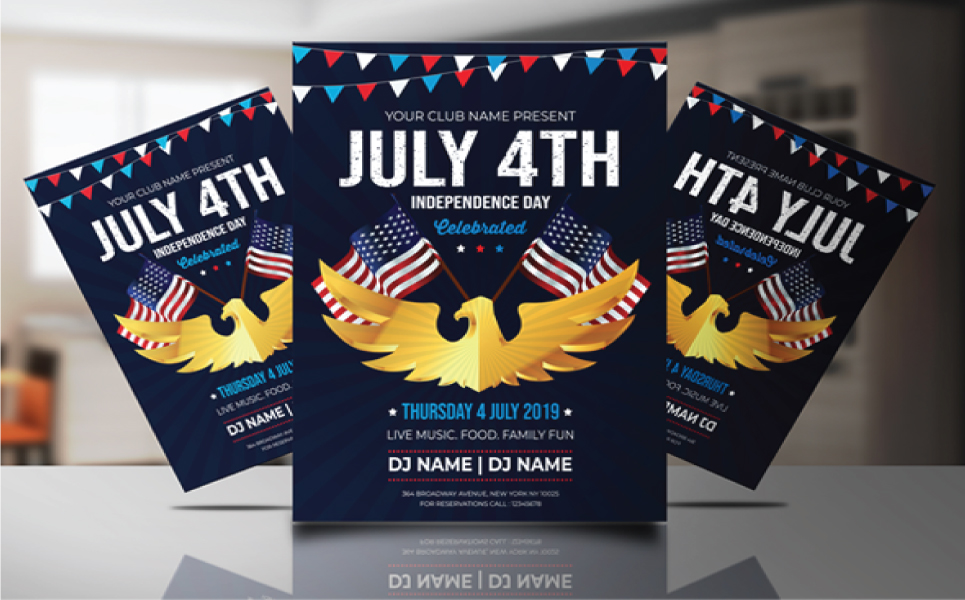 4th of July Flyer Corporate Identity Template #81108