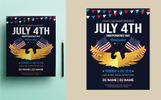 """""""4th of July Flyer"""" Bedrijfsidentiteit template"""