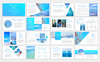"Tema PowerPoint #79899 ""Blue Waves -"" Screenshot grande"