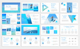 "Tema PowerPoint #79899 ""Blue Waves -"""