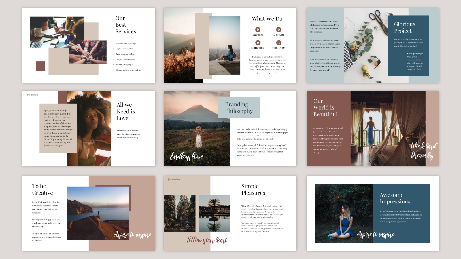 Glorious presentation PowerPoint Template