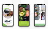 Instagram stories: Healthy Food After Effects intró