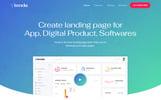 Responsywny szablon Landing Page Tenda - App #79951