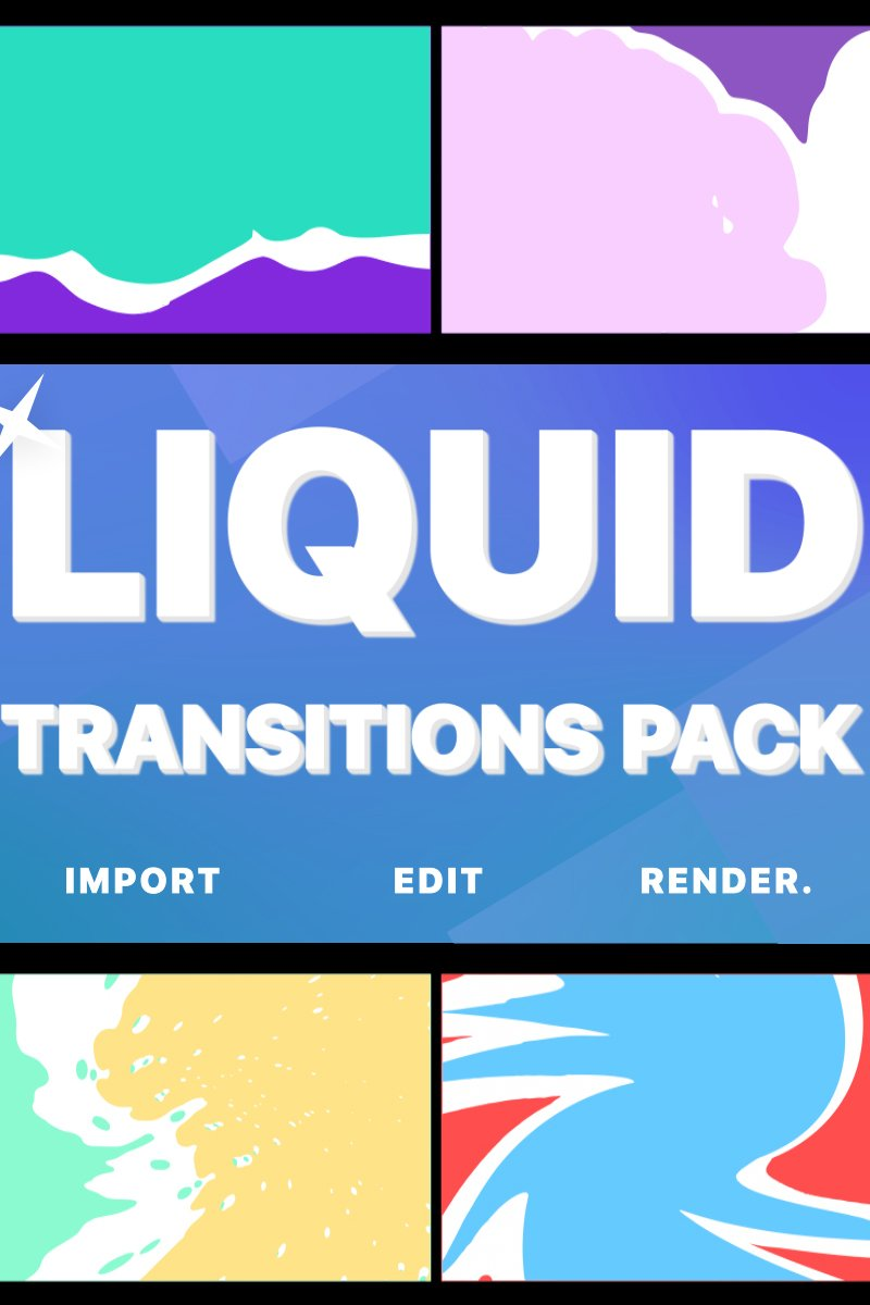 Liquid Transitions Pack For After Effects Intro #80435
