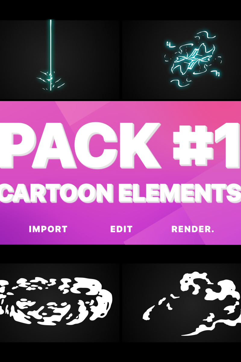 Electricity, Smoke And Fire Elements After Effects Intro #80703