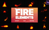 "After Effects Intro namens ""Cartoon Fire Elements"" Großer Screenshot"
