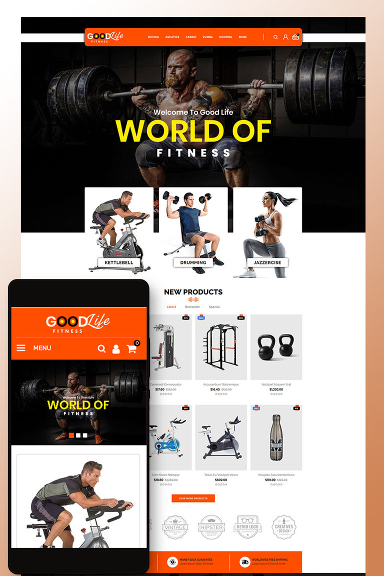 10ed8857 GoodLife Fitness - Online Store OpenCart Template Big Screenshot