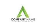"""Logo Vorlage namens """"A Letter Polygon"""""""