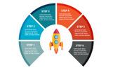 "Modello Elementi infografici #83630 ""Rocket"""