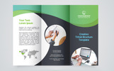 Creative Trifold Brochure Template. 2 Color Styles Corporate Identity Template