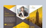 Unique Trifold Brochure Hexagon Corporate Identity Template