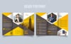Unique Trifold Brochure Hexagon Corporate Identity Template Big Screenshot